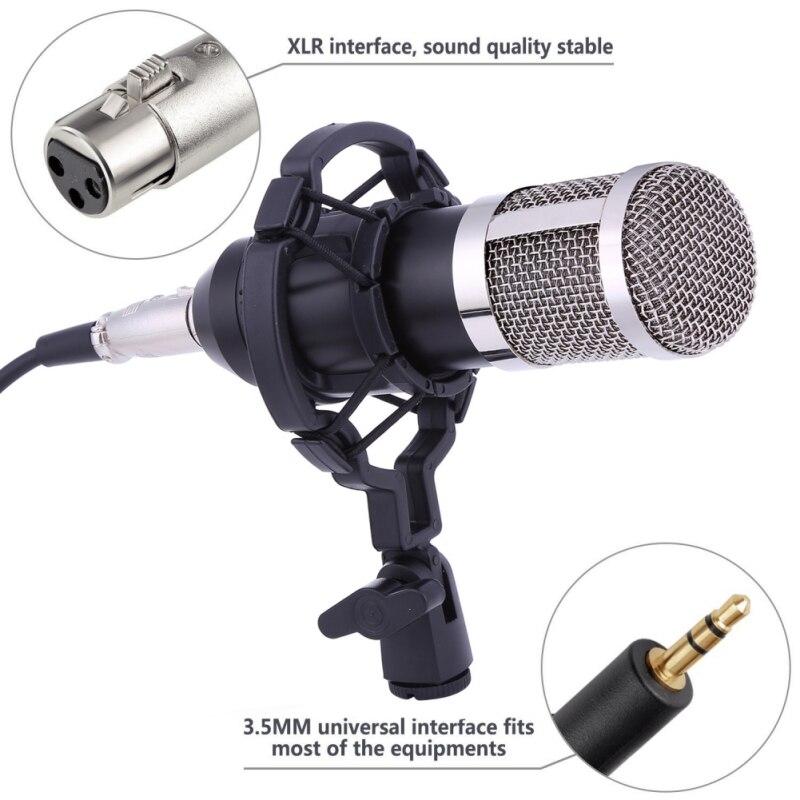 Haute Qualité BM-800 Microphone À Condensateur pour ordinateur Audio Studio Vocal Enregistrement Mic KTV Karaoké Microphone stand Ensemble