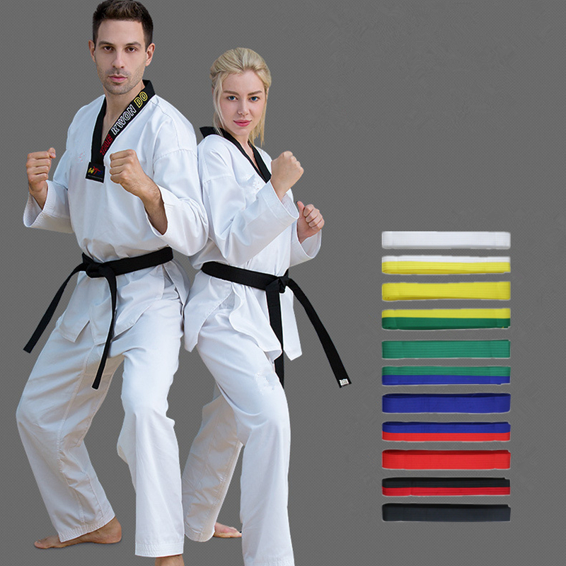 "2/"" inch Embroidered Black TKD Tae Kwon Do Karate Martial Art Belt Judo"