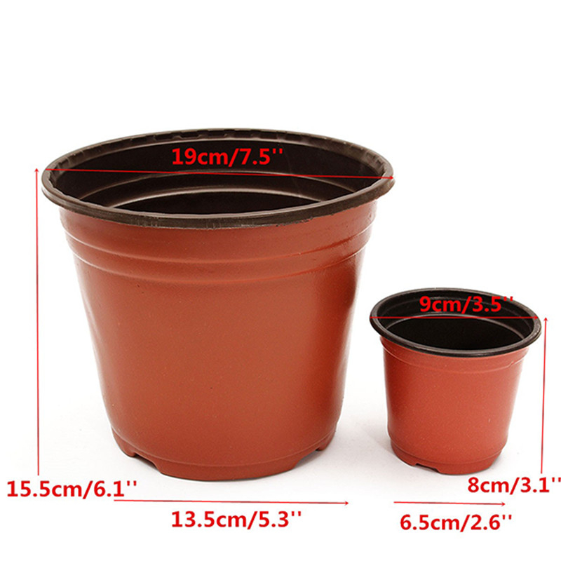 50Pcs/lot Plastic Nursery Pot Flowerpot Desktop Potted Plant Seedlings Planter Pots Home Tool Contain 2 Sizes