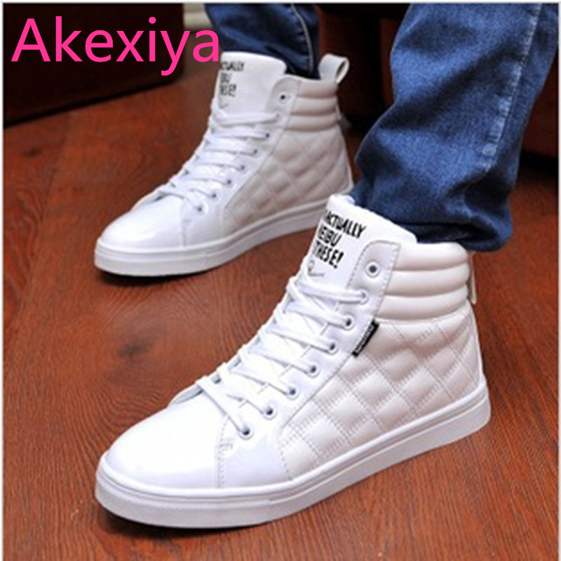Akexiya free shipping 2017 medium(b,m) lace-up men plaid pu 40 new autumn and shoes male high-top fashion trend hot sale 2016 summer men sandal sale medium b m back strap shoes melissa genuine leather sandals new men s beach shoes free shipping
