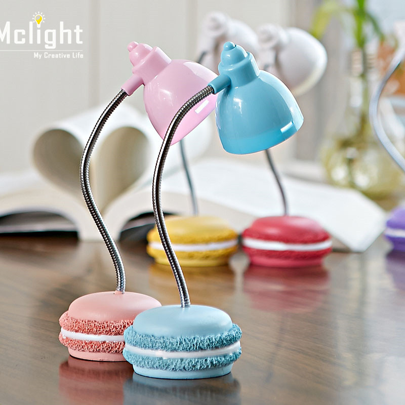 Light Store Reading Ma: Cute Lovely Macaron Led Desk Lamp Folding Adjustable 3