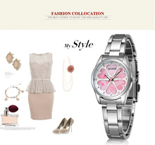 SKONE Brand Women Dress Watches Heart Rhinestone Rose Gold Fashion Watch Ladies Quartz-watch Girls Wristwatch 2016 Gift for her