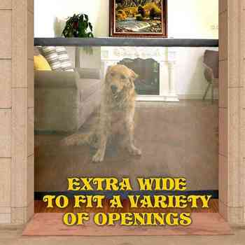 Magic Gate Portable Folding pet dog Safe Guard Indoor and Outdoor Protection Safety Gate Extra Wide To Fit A Variety Of Openning
