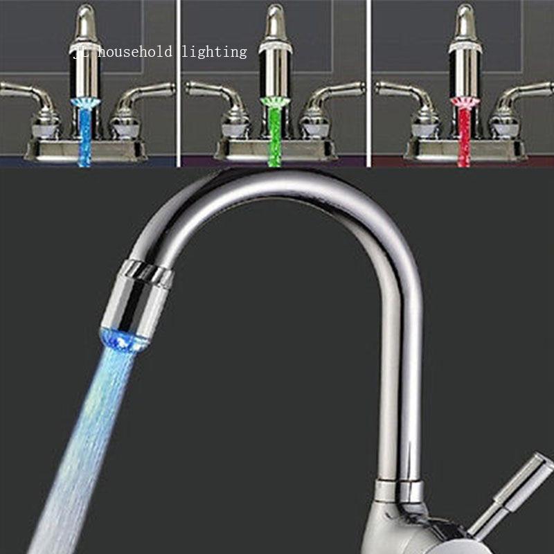 Automatic 3 color Sensor RGB Glow Shower LED Light Water ...