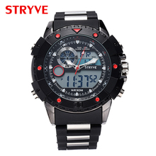 Top Luxury Brand STRVE 3ATM Wateproof Sports Watches WoMen Digital Quartz Dual Movement  Men Military Watches Relogio Masculino