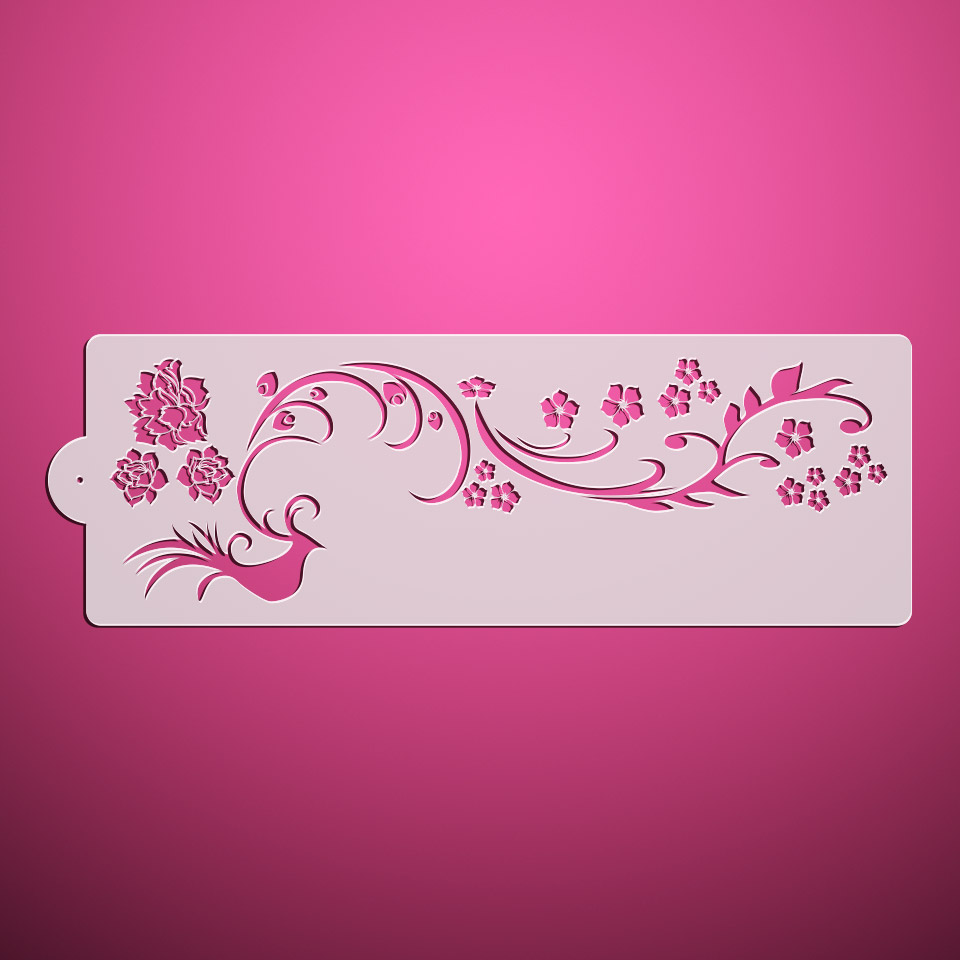 Cake Decorating Flower Templates : Peony Flower Cake Decorating Stencil, Newst Stencils for ...