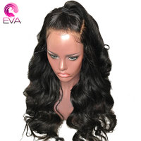 Eva Hair 150% Density Body Wave Silk Base Wigs With Baby Hair Pre Plucked Silk Top Lace Front Human Hair Wig Brazilian Remy Hair