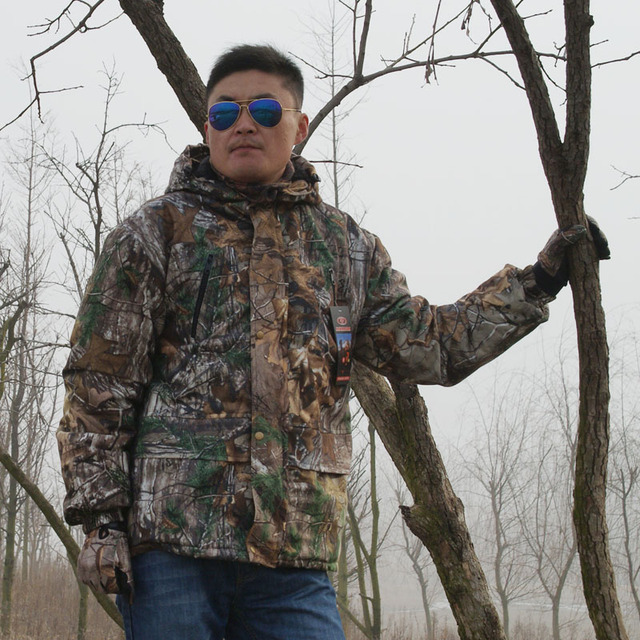 Autumn Winter Warm Fleece 3D Camouflage Hunting Jacket Ghillie Suit Tactical Hiking Fishing Clothes Men Waterproof Hooded Jacket 3