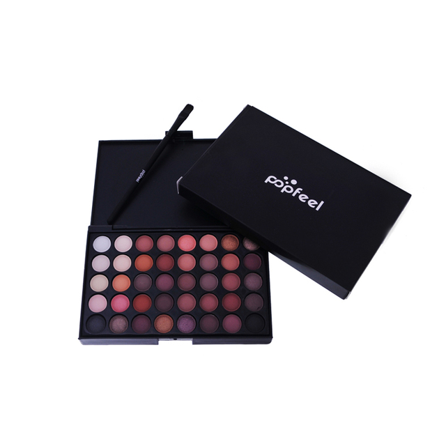 New Pigments Matte Eyes Shadow Palette Makeup Sets With Brushes Waterproof 40 Color Smoky Eyeshadow Glitter Palette Nude Makeup 4
