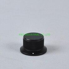 1pc 44x34x25mm Black Aluminum Vintage Control Knurled knob fr Guitar Amplifier Parts