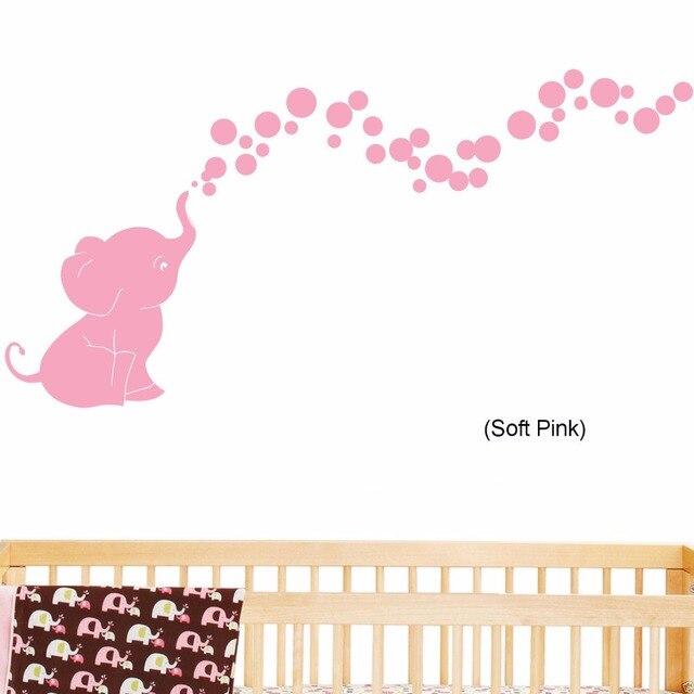 Aliexpresscom  Buy Elephant Blowing Bubbles Baby Wall Decal - Vinyl vinyl wall decals bubbles