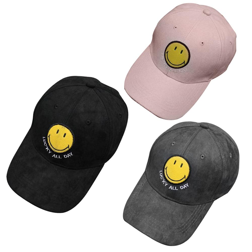 Unisex Snapback Baseball Peaked Cap Smiling Face Adjustable HipHop Hat