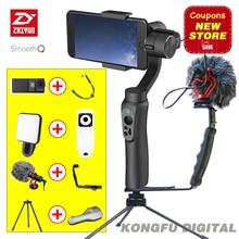 Zhiyun SUAVE Q 3 Ejes Cardán Estabilizador de Mano para Smartphone acción sjcam cámara del teléfono Portátil cam VS dji osmo feiyu Gopro