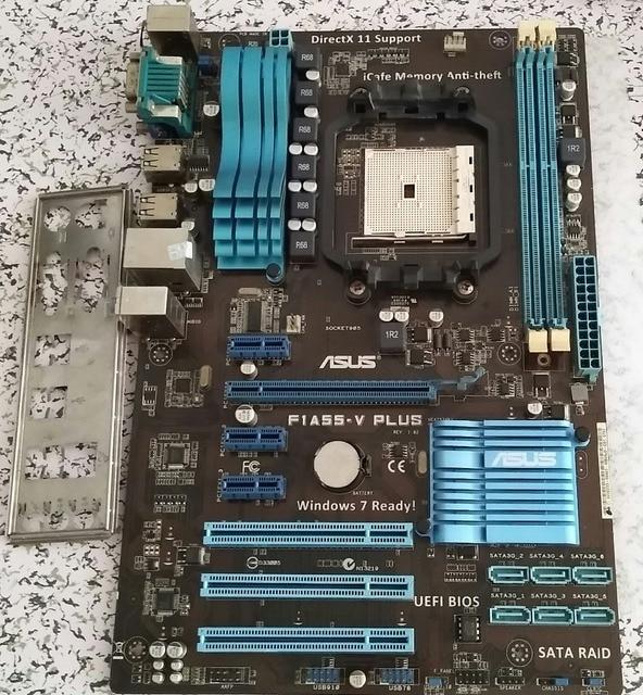 US $49 8 |Used,original motherboard ASUS F1A55 V PLUS Socket FM1 DDR3 board  A55 USB 2 0 Desktop motherboard-in Motherboards from Computer & Office on