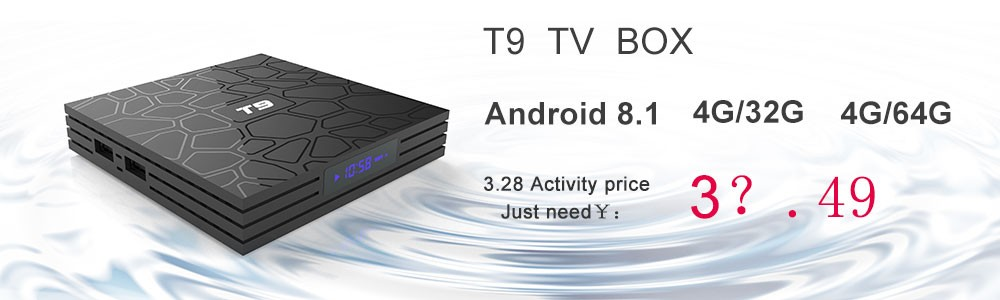 TV Box T9 Android 8 1 Bluetooth Rockchip RK3328 4GB RAM 32GB/64GB 4K