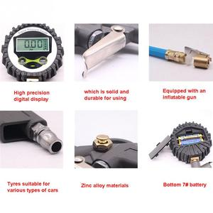 Image 4 - 자동차 자동 디지털 타이어 압력 게이지 미터 타이어 공기 팽창기 도구 220psi