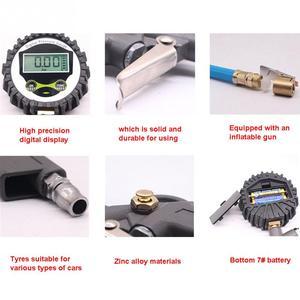 Image 4 - Medidor de presión de neumáticos Digital para coche, inflador de neumáticos, 220PSI