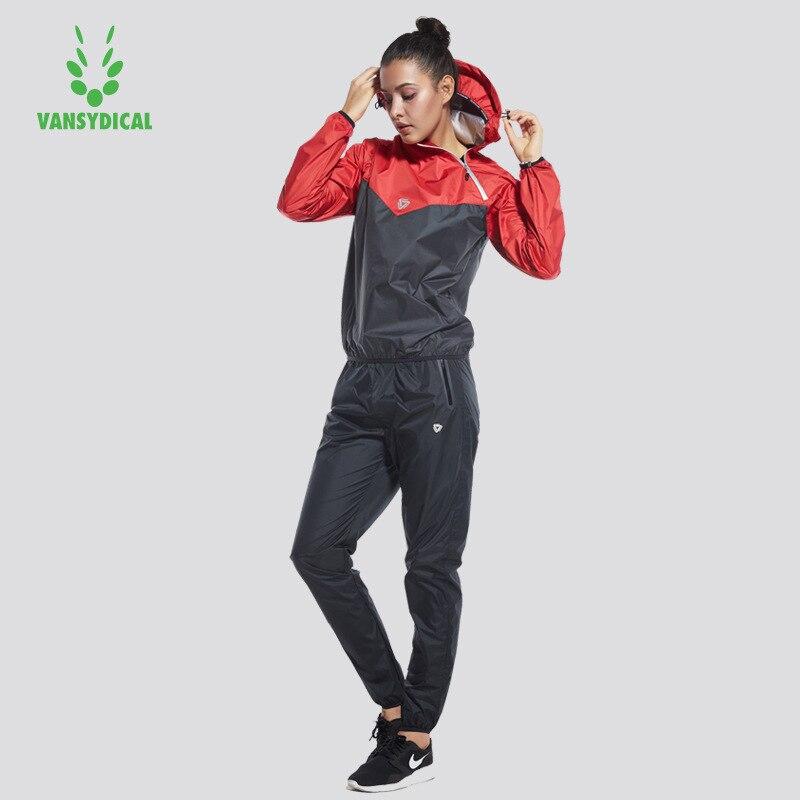 99f6b479eb2b8 Vansydical trajes de Deportes de las mujeres gimnasio corriendo Yoga  conjuntos rápido sudando deportiva Fitness ropa de entrenamiento Jogging  trajes de 2 ...