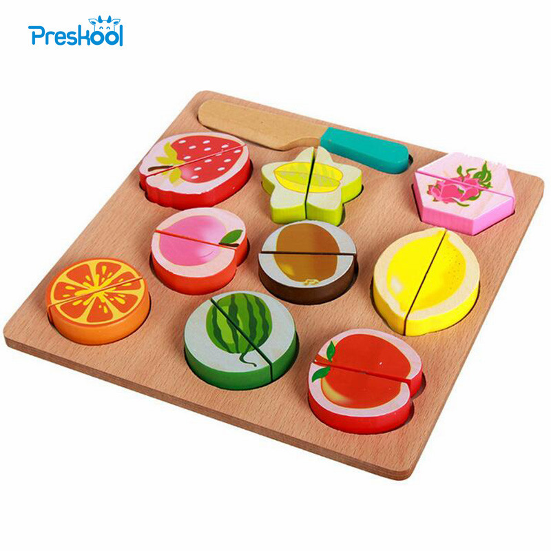 Baby Toy Fruit Matching Cutting Pretend Toy Learning Preschool Training Brinquedos Juguets