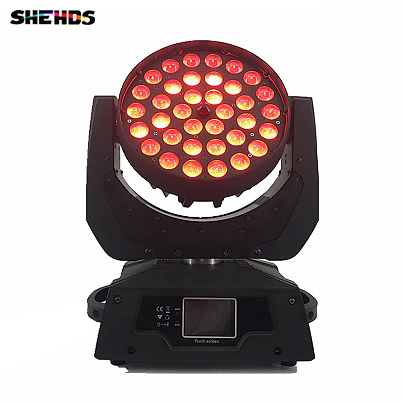 LED Moving Head Wash Light LED Zoom Wash 36x12W RGBW Color DMX Stage Moving Heads Wash Touch Screen
