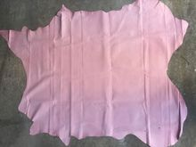 pink Genuine Pig grain skin leather material sale by whole piece