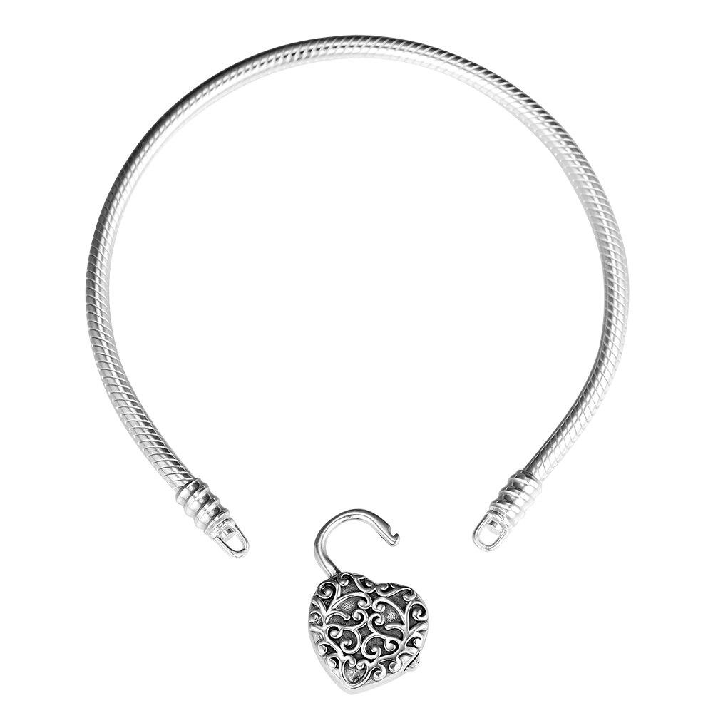 100% 925 bijoux en argent Sterling Regal coeur lisse cadenas bracelets pour femme en gros livraison gratuite100% 925 bijoux en argent Sterling Regal coeur lisse cadenas bracelets pour femme en gros livraison gratuite