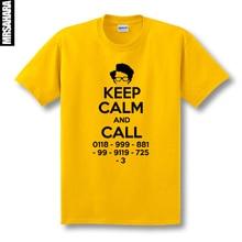 SexeMara free shipping print IT Crowd Roy Geek keep calm and call sitcom man men male short-sleeve T-shirt