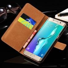 FLOVEME Luxury Genuine Leather Case For Samsung Galaxy S7 S6 Edge S6 Edge Plus Case Fashion