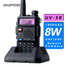 Baofeng UV 5R 10 км портативная рация UV5R 8 Вт двухдиапазонный дисплей CB Ham Радио Vhf портативная двухсторонняя радиостанция охотничий коммуникатор