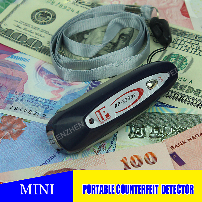 50pc new portable magnetic detector detector mini key counterfeit money detector 2in1 keychain hot selling