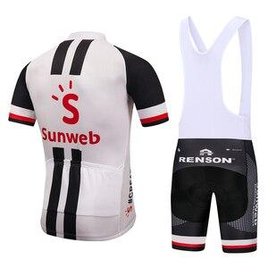 Image 4 - Năm 2020 ĐỘI SUNWEB ĐỎ PRO đi xe đạp áo yếm quần short phù hợp với Ropa Ciclismo nam mùa hè thoáng XE ĐẠP ĐỊA HÌNH Maillot mặc