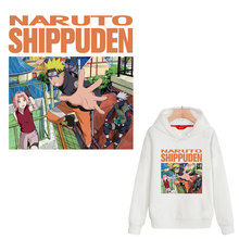 cartoon Naruto Shippuden iron patches heat transfer for clothing T-shirt hoody letter ironing sticker press applique badge