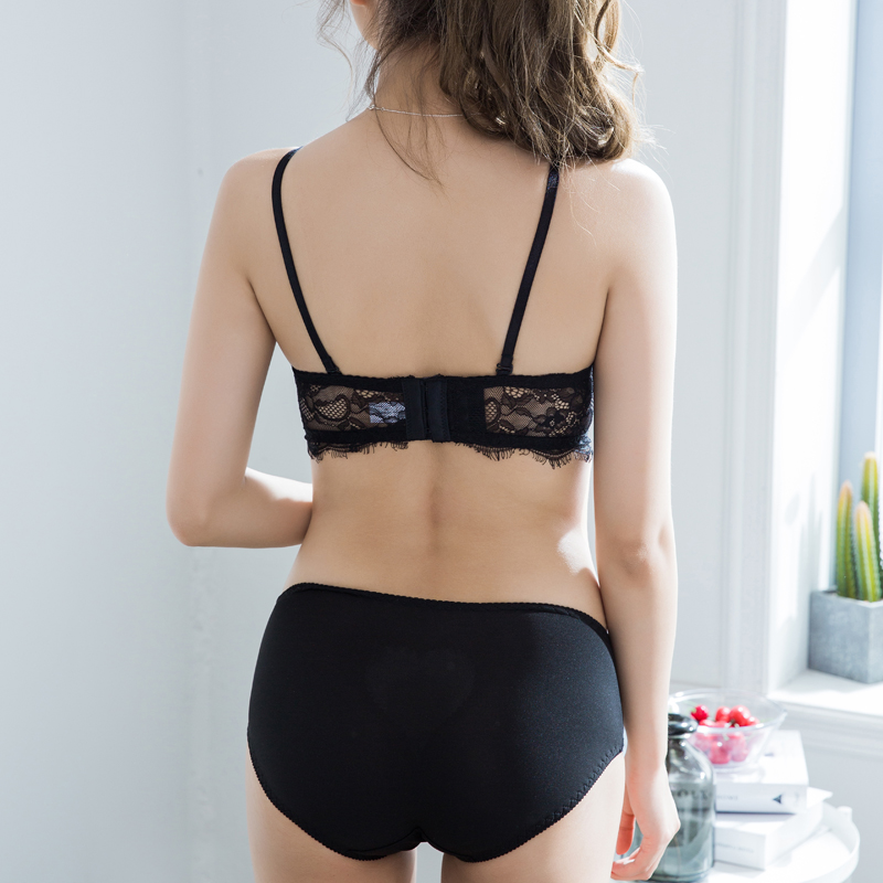 2a87b0d0bef Mignmo 2018 Hot Sale Lace Bra Hot Luxury Lingerie Eyelashes Lace Sexy Bra  Set For Girl Push Up Cute Panty Sets Women Underwear-in Bra   Brief Sets  from ...