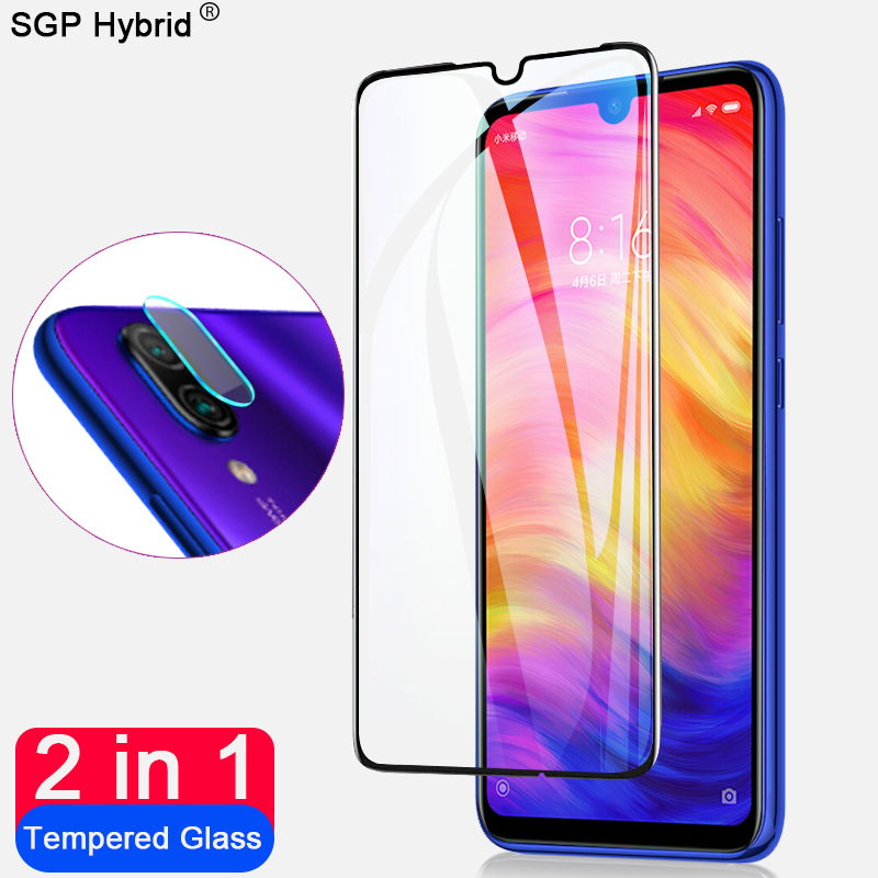 2 In 1 9D Tempered Glass Screen Protector For Xiaomi Redmi Note 7 Camera Lens Protective Glass On The Xiomi Redmi Note7 HD Films
