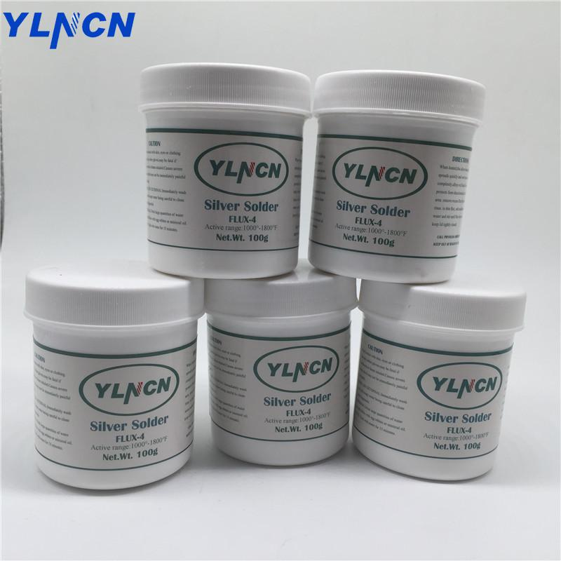 Silver Copper Brass Brazing Powder Welding Flux Sliver Soldering QJ201 Gas Copper-copper Alloy Solder 100g/bottle