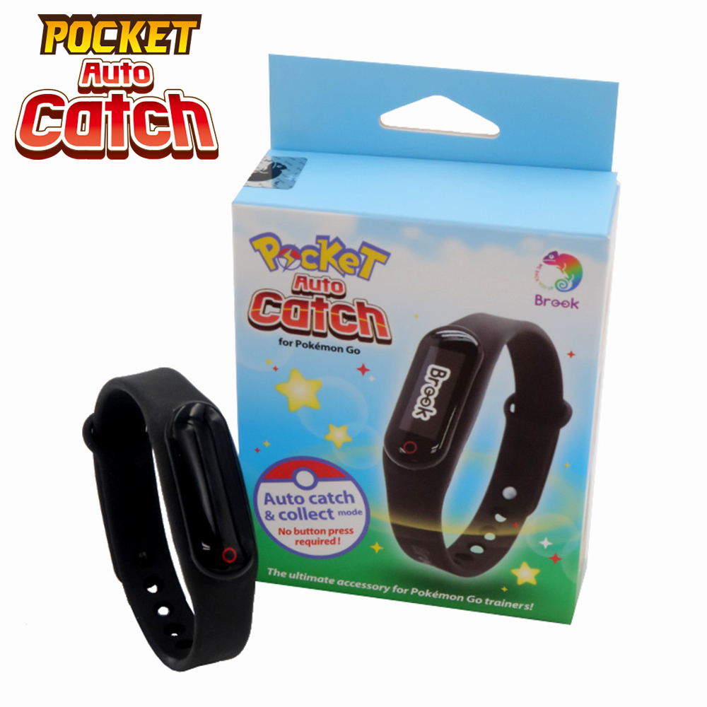Brook For Bluetooth Bracelet Watch Wristband Pocket Auto Catch For Pokemon Go Plus Smart Wristband For IOS &Android