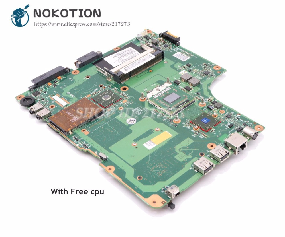NOKOTION For Toshiba Satellite A215 Laptop Motherboard DDR2 Socket S1 Free Cpu V000108700 6050A2127101-MB-A02 Main Board
