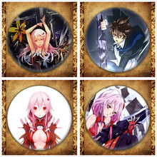 Japanese Anime Guilty Crown Display Badge Fashion Cartoon Figure GC OUMA SHU YUZURIHA INORI Brooches Pin Jewelry Accessories стоимость