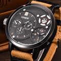 XINEW Sport Handgelenk Uhren Männer Große Dual Zeit Leinwand Strap Wasserdicht Casual Quarzuhr Relogio Masculino Marca Original Grande