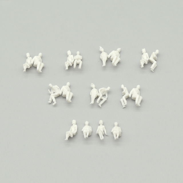 sitting figure seated miniature white people Architectural model human scale ABS plastic peoples 3