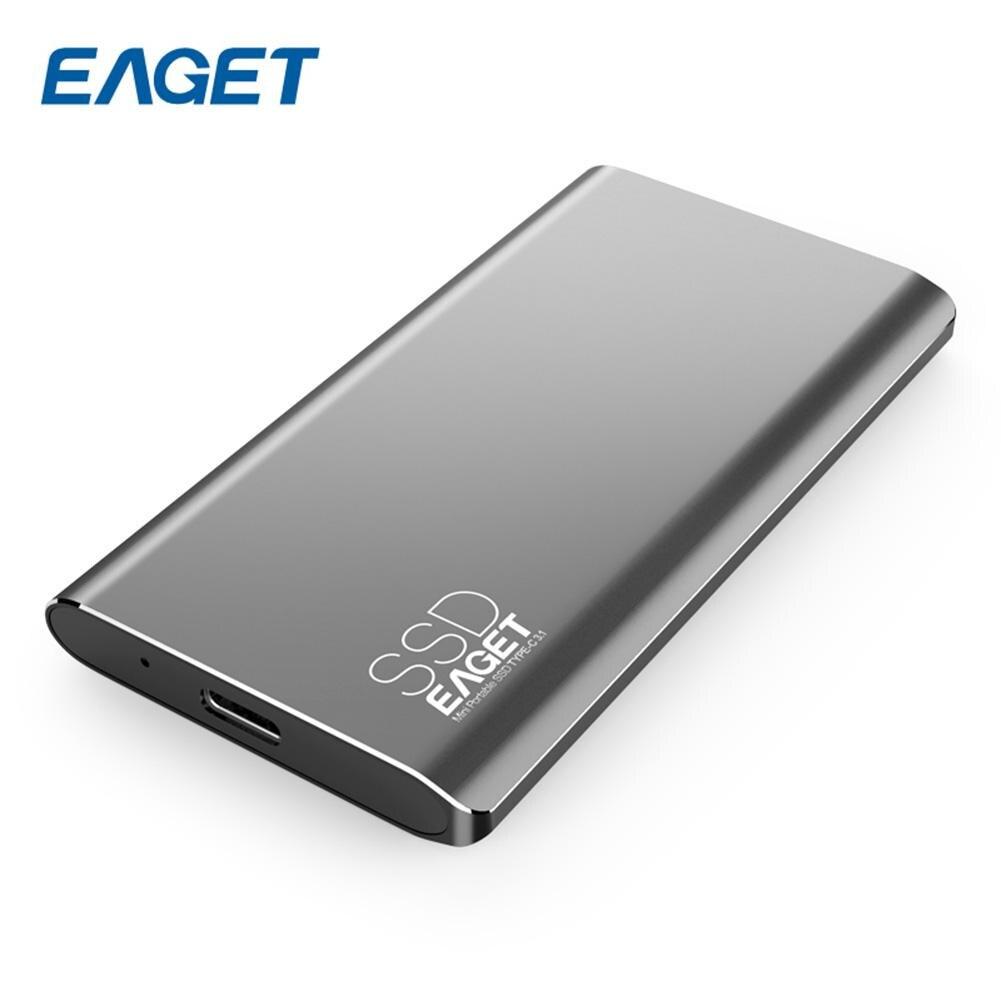 EAGET M1 TYPE-C 128/256 gb USB type-c 3.1 Disque Dur externe SSD Portable