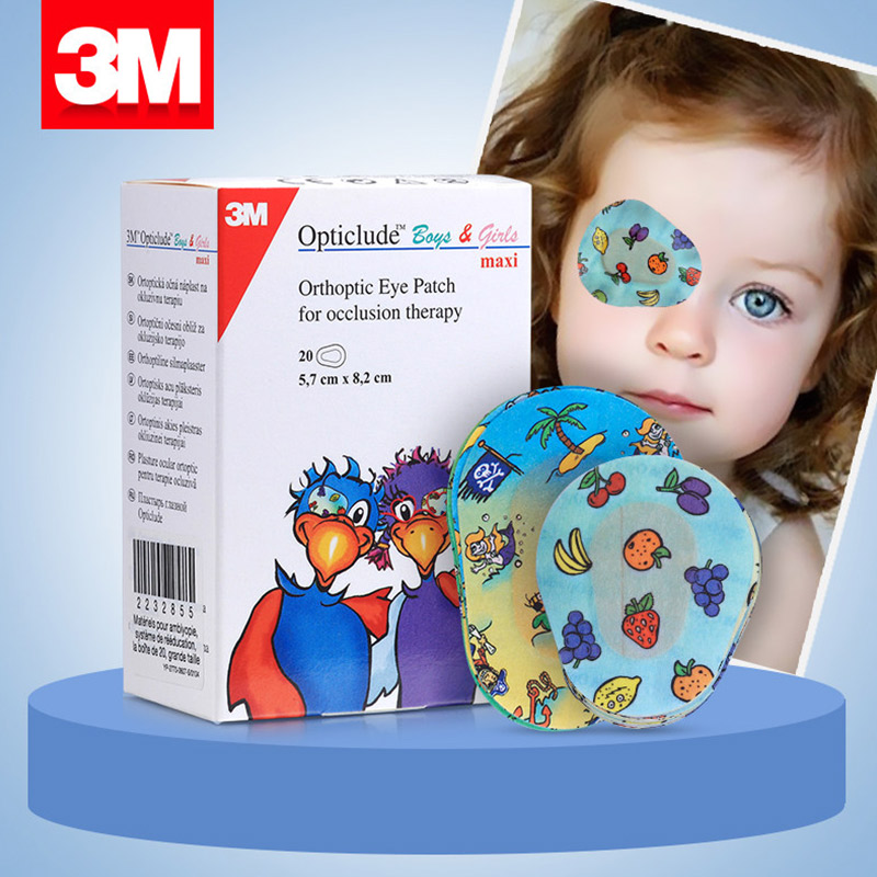 20 pcs/lot Eye Patch Band-Aids Breathable Medical Eye Pad Adhesive Bandages Occlusion therapy For Amblyopia Kids children 3m 20 pcs box eye patch band aid medical eye pad adhesive bandages part time occlusion therapy for amblyopia kids children