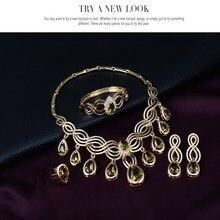 Conjuntos de jóias colar brincos pulseira anéis declaração de estilo europeu cindiry mulheres noiva acessórios para noivas