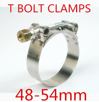 10pcs/lot 48-54mm T BOLT CLAMPS Turbo Pipe Hose Coupler Stainless Steel