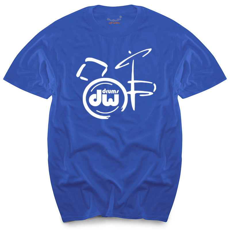 New dw drums Music Logo Men/'s White T-Shirt Size S to 3XL