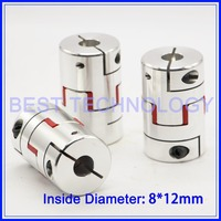 3pcs Flexible Jaw Spider Plum Coupling 8mm To 12mm Clamp CNC Starter Shaft Coupling Connector Diameter