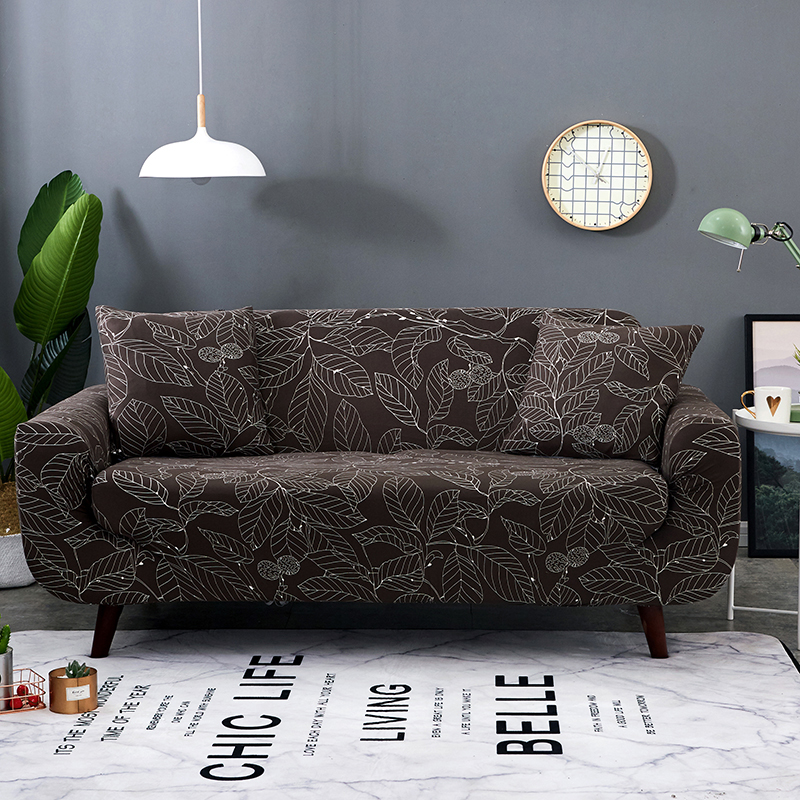 PORSIA 20Color Slipcover Sofa Cover Polyester Spring Summer Elastic Sectional For Living Room 1/2/3/4-Seater