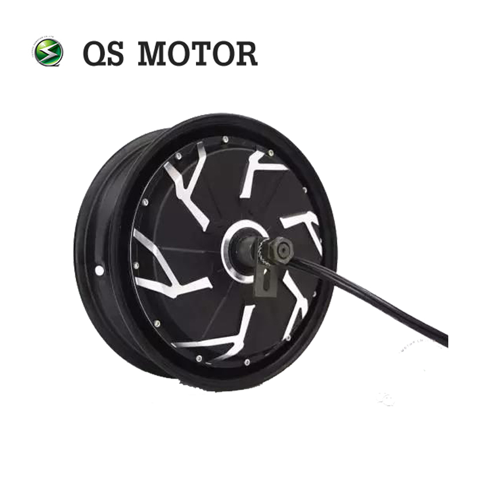 Qsmotor  12*3.5inch 12000W 260 70H V4 120kph Electric Wheel Motor For Motorcycle