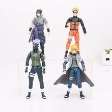 Naruto, Sasuke, Minato & Kakashi 15cm PVC Action Figures