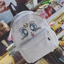 Новый хан издание симпатичные сейлор мун вышивка рюкзак рюкзак милый мультфильм cat сумка студенты